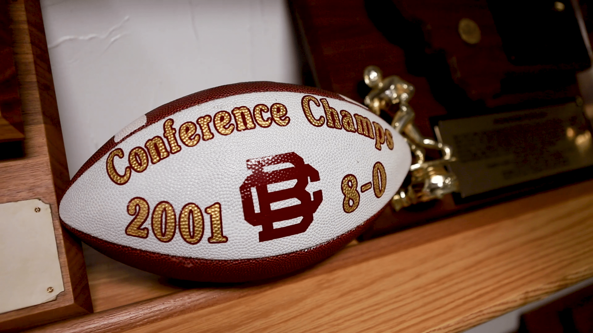 Conference Champs commemorative football, 2001, 8-0.